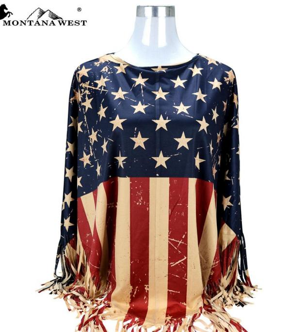<font color=BLUE>RED,WHITE, AND BLUE</font> :: American Pride Collection Poncho