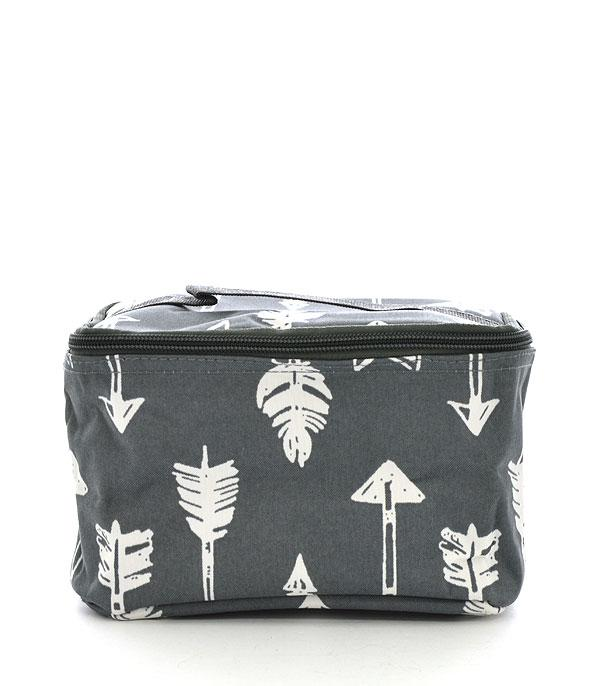 TRAVEL :: DIAPER | TOILETRY | COSMETIC BAGS :: Arrow Print Cosmetic Bag
