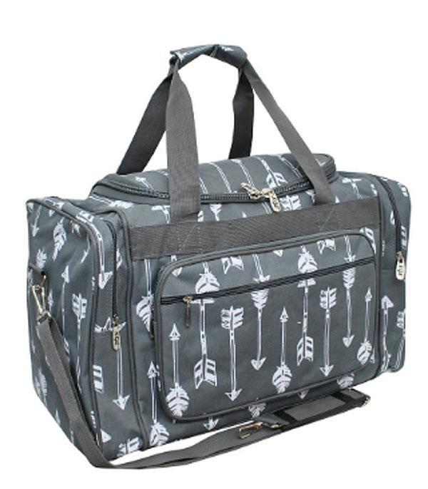 TRAVEL :: DUFFLE BAGS :: Arrow Print Canvas Duffle Bag