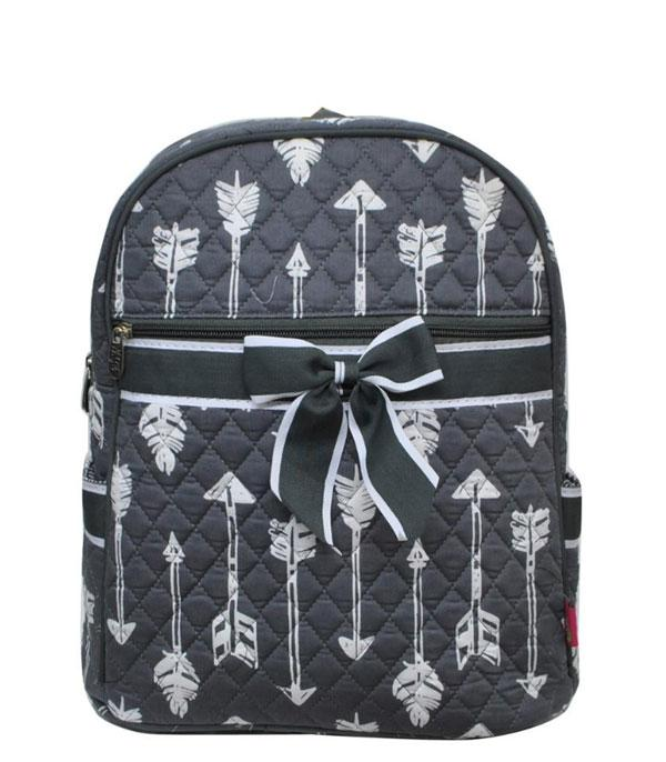 TRAVEL :: BACKPACKS | LUNCH BAGS :: Arrow Print Quilted Backpack