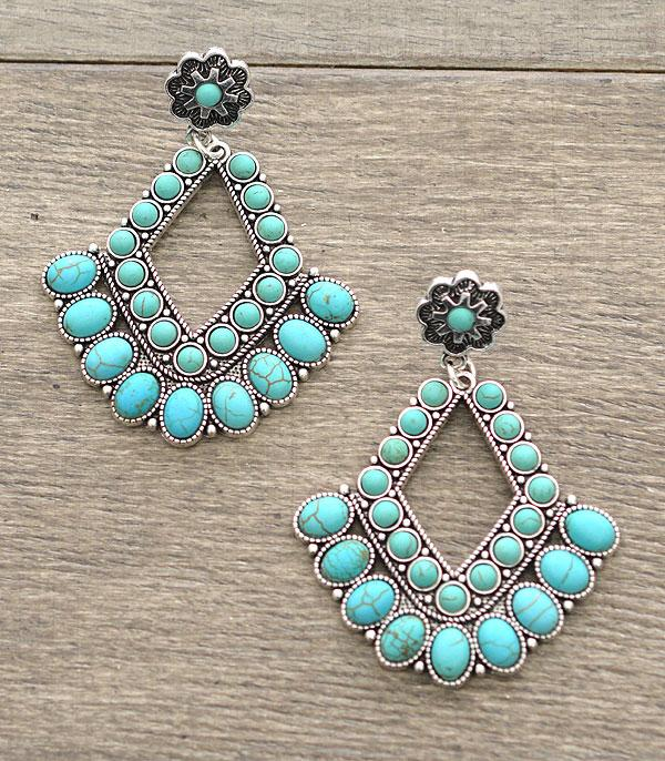 <font color=Turquoise>TURQUOISE JEWELRY</font> :: Western Chandelier Earrings