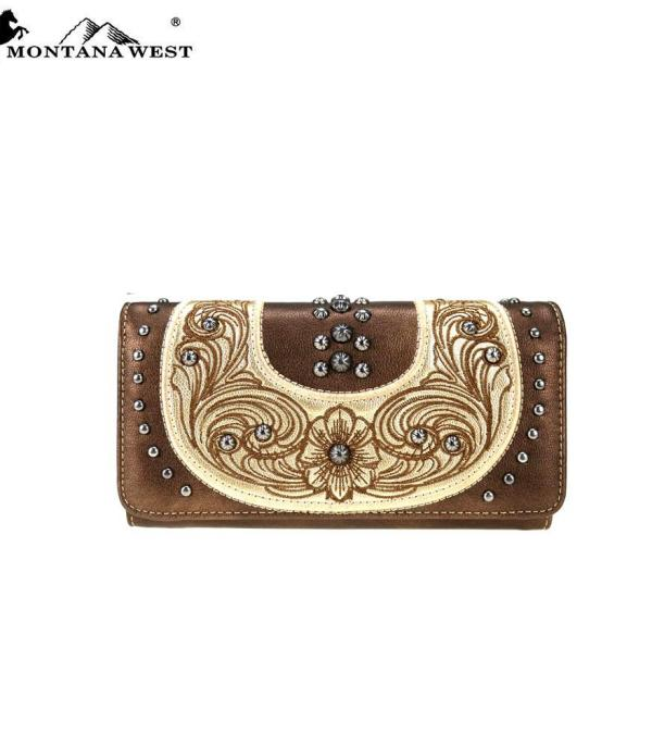 HANDBAGS :: WALLETS | SMALL ACCESSORIES :: Montana West Buckle Collection Wallet