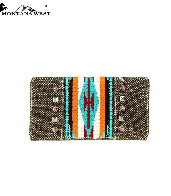HANDBAGS :: WALLETS | SMALL ACCESSORIES :: Montana West Aztec Collection Wallet