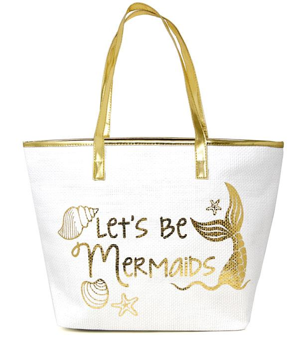 TRAVEL :: SHOPPING I MARKET BASKETS :: Let's Be Mermaids Beach Tote