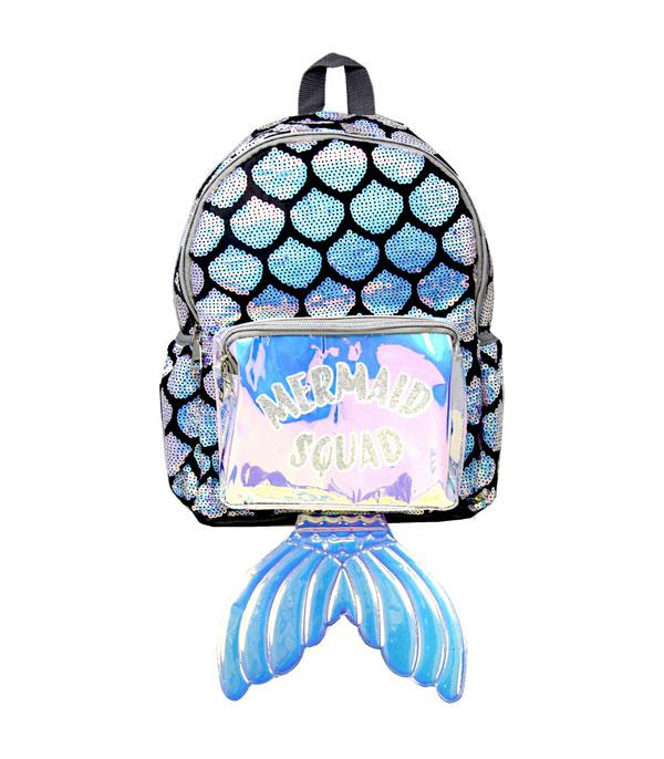 TRAVEL :: BACKPACKS | LUNCH BAGS :: Sequin Mermaid Squad Backpack