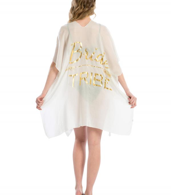 SCARVES / PONCHO :: PONCHO | VEST :: Bride Tribe Beach Cover Up