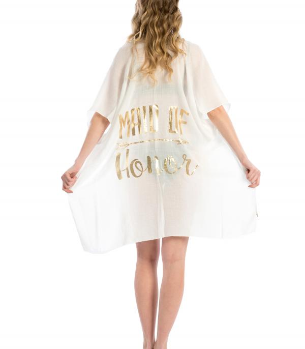 SCARVES / PONCHO :: PONCHO | VEST :: Maid Of Honor Beach Cover Up