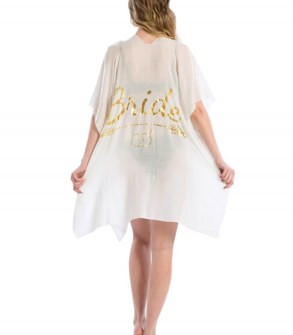 SCARVES / PONCHO :: PONCHO | VEST :: Bride Beach Cover Up