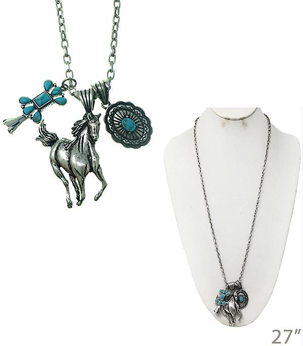 New Arrival :: Horse Cluster Necklace