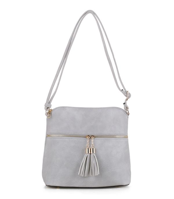 HANDBAGS :: FASHION :: Tassel Detail Bucket Bag