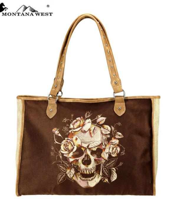 New Arrival :: Sugar Skull Painting Canvas Tote Bag