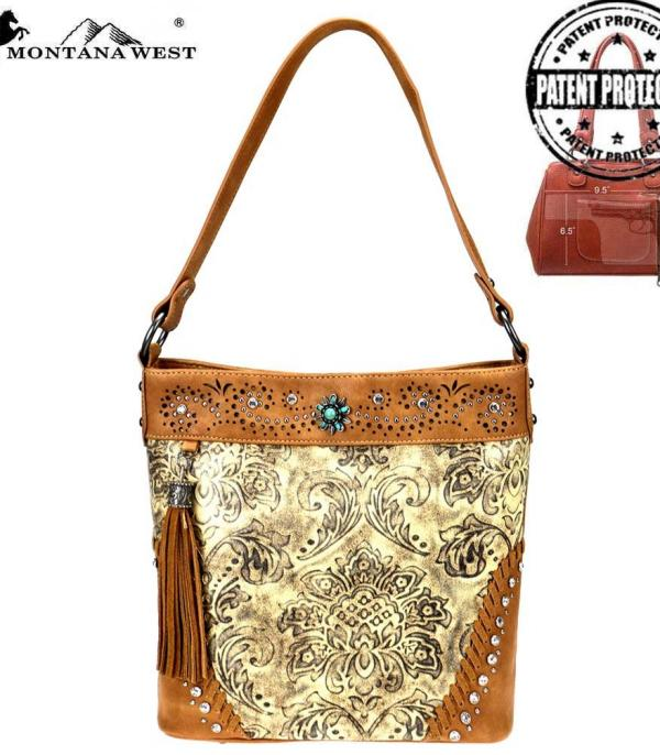 New Arrival :: Tooled Collection Concealed Carry Hobo