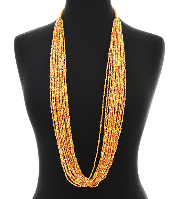 New Arrival :: Seed Bead Long Layered Necklace