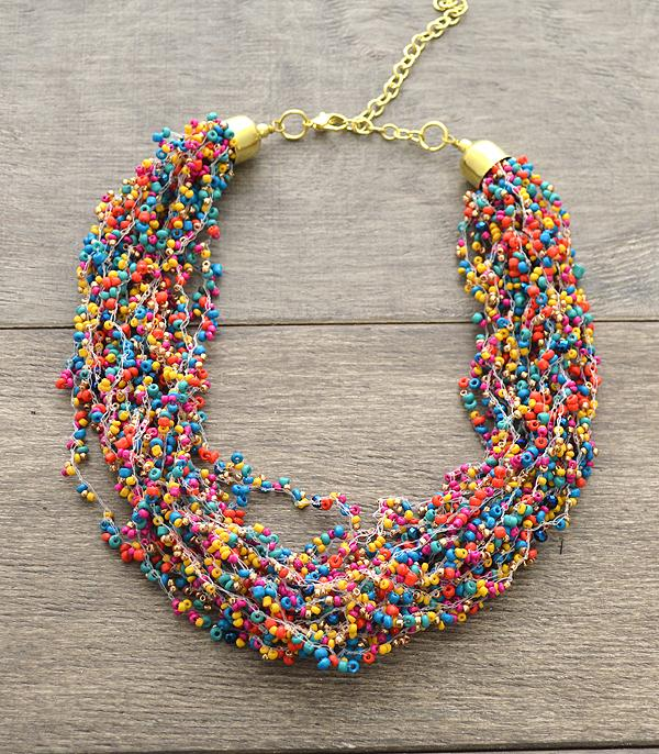 New Arrival :: Seed Bead Layered Necklace