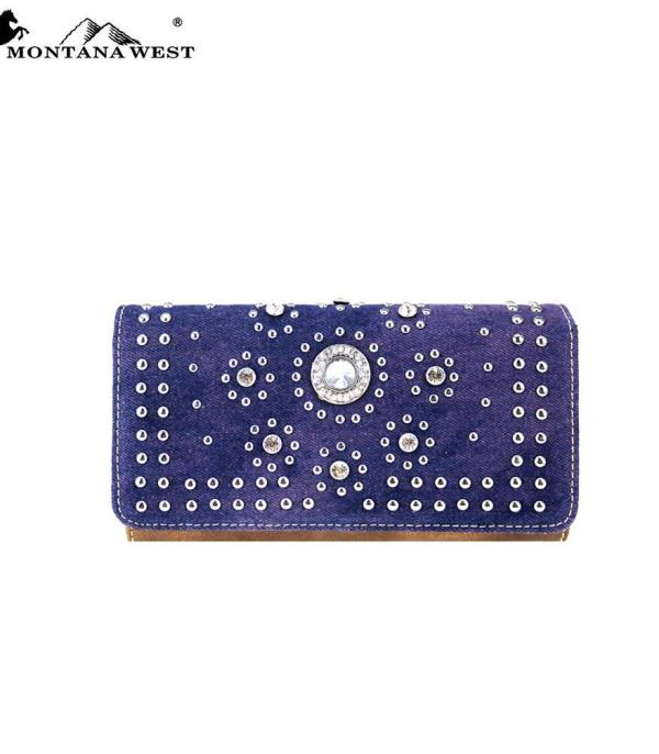 HANDBAGS :: WALLETS | SMALL ACCESSORIES :: Montana West Concho Collection Wallet