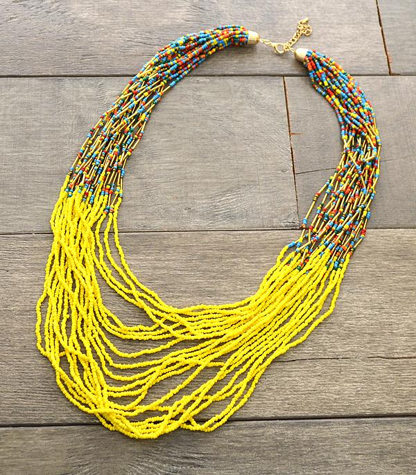 New Arrival :: Multi Strand Seed Bead Necklace