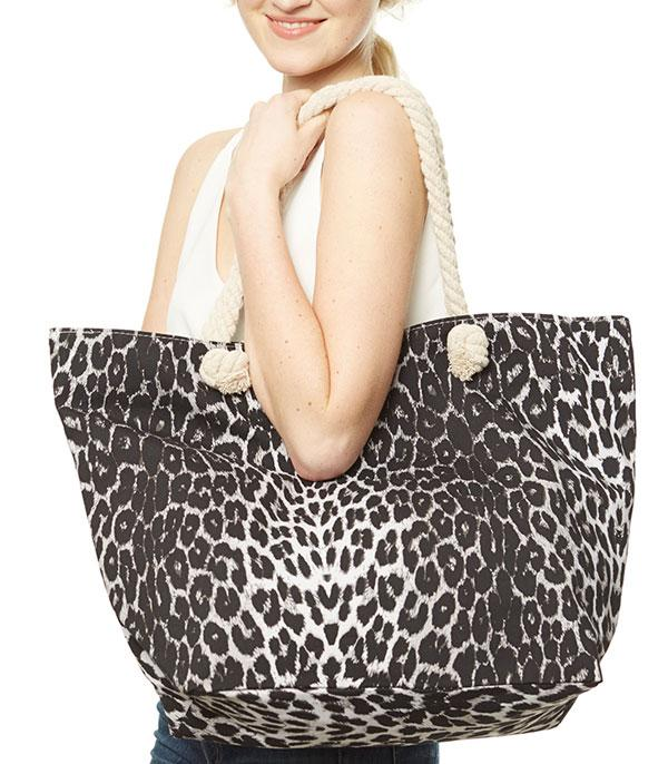 New Arrival :: Wholesale Leopard Print Beach Shopping Tote