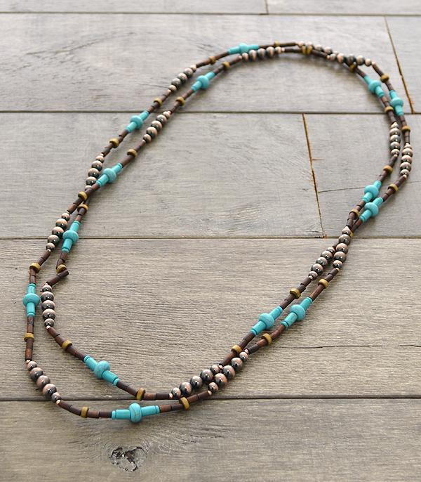 <font color=Turquoise>TURQUOISE JEWELRY</font> :: Wholesale Navajo Bead Necklace