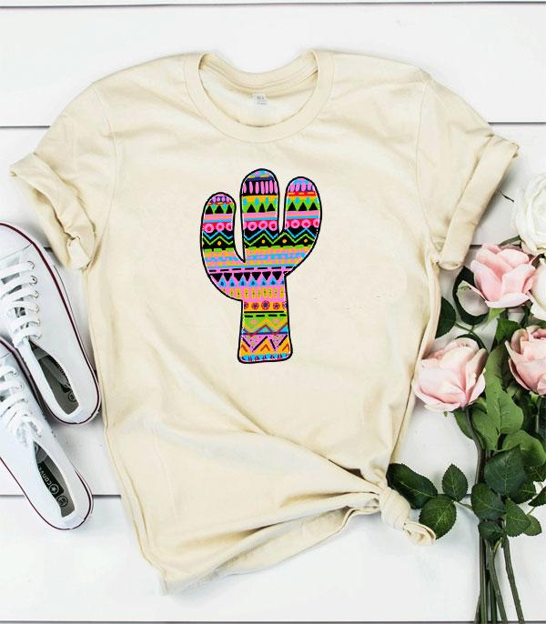 New Arrival :: Wholesale Western Cactus Graphic T-Shirt