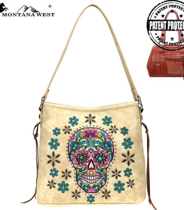 New Arrival :: Wholesale Montana West Sugar Skull Bag