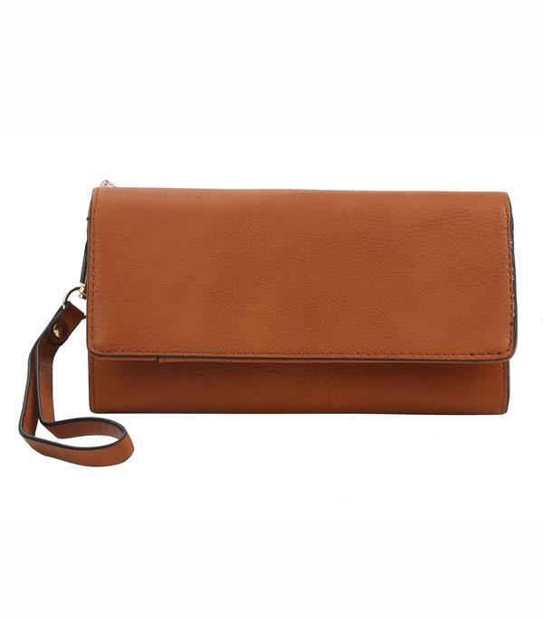 New Arrival :: Wholesale Faux Leather Phone Clutch