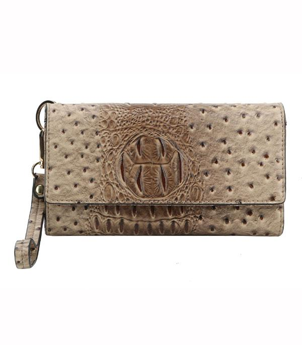 New Arrival :: Wholesale Ostrich Croc Phone Clutch