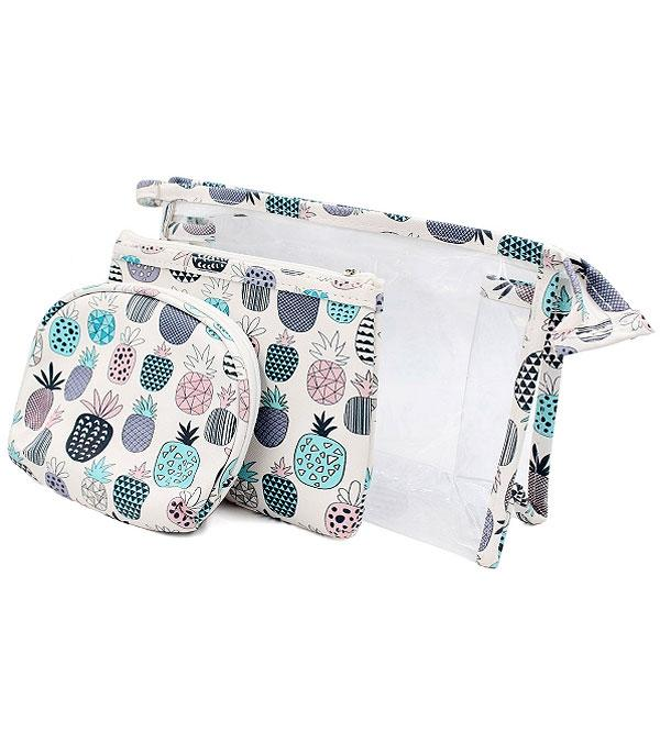 TRAVEL :: DIAPER | TOILETRY | COSMETIC BAGS :: Wholesale Pineapple Cosmetic Toiletry Bag