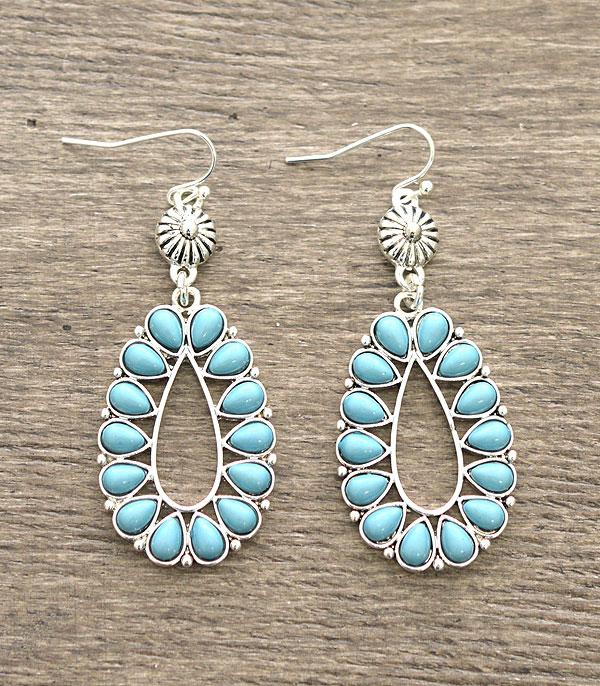 <font color=Turquoise>TURQUOISE JEWELRY</font> :: Wholesale Turquoise Teardrop Earrings