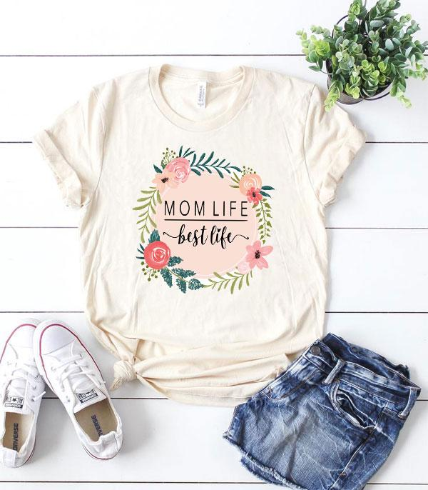 New Arrival :: Wholesale Vintage Momlife Grapihc T-Shirt