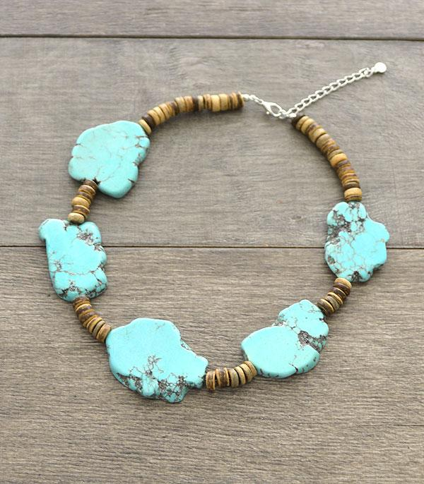 New Arrival :: Wholesale Turquoise Stone Necklace