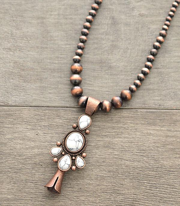 New Arrival :: Wholesale Western Navajo Squash Blossom Necklace