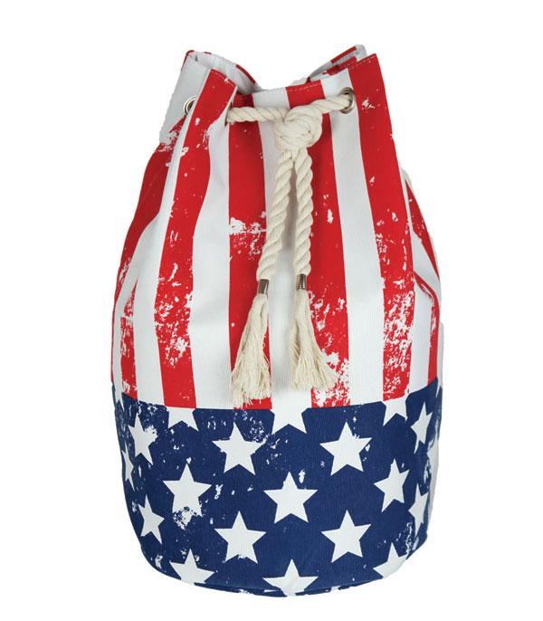 New Arrival :: Wholesale American Flag Cotton Backpack