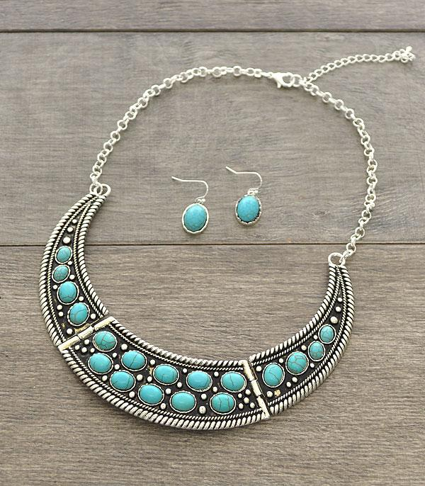 <font color=Turquoise>TURQUOISE JEWELRY</font> :: Wholesale Turquoise Stone Choker Necklace