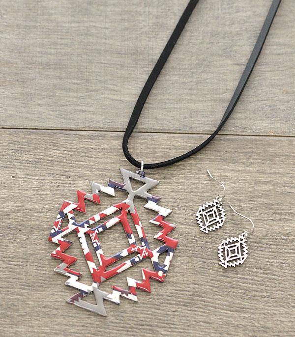 New Arrival :: Wholesale Aztec Cut-Out Long Necklace