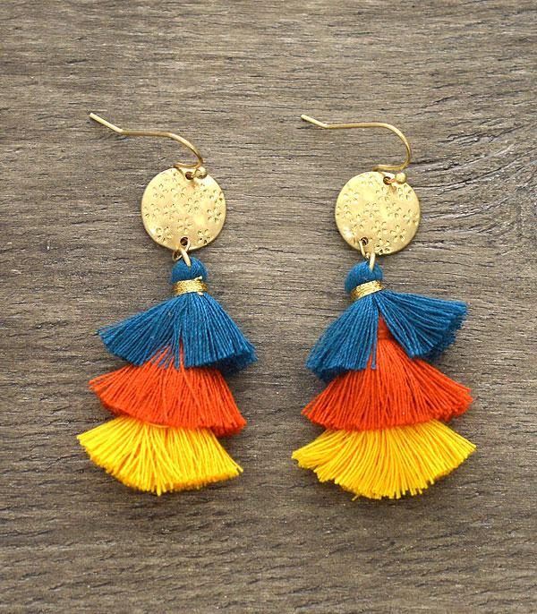 New Arrival :: Wholesale Tassel Layered Earrings
