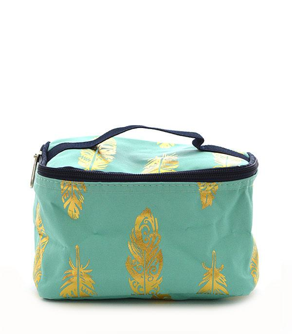 New Arrival :: Wholesale NGIL Gold Foil Feather Cosmetic Bag