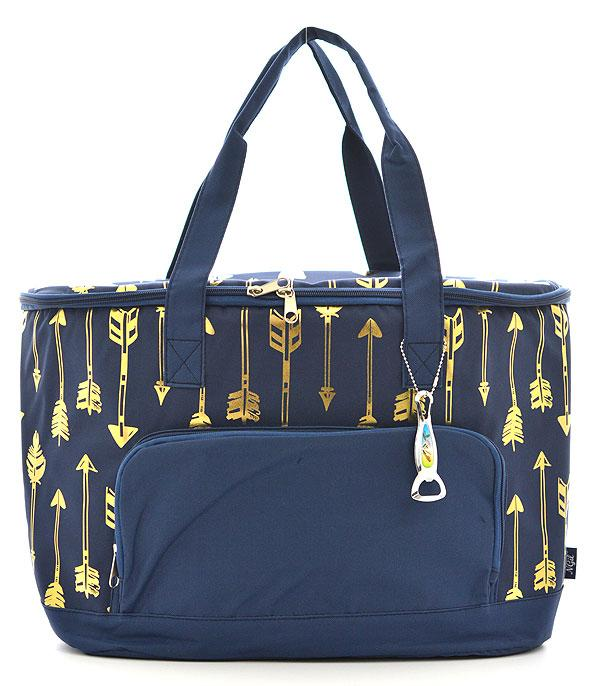 New Arrival :: Wholesale NGIL Gold Foil Arrow Cooler Bag