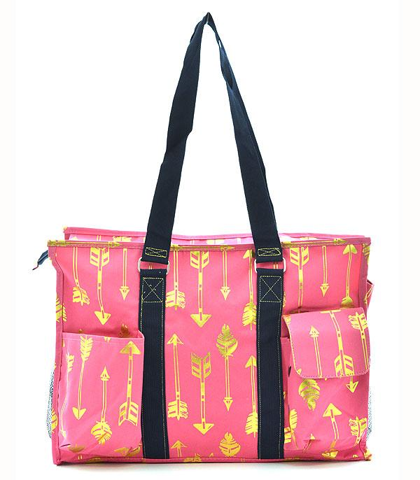 New Arrival :: Wholesale NGIL Gold Foil Arrow Shopping Tote