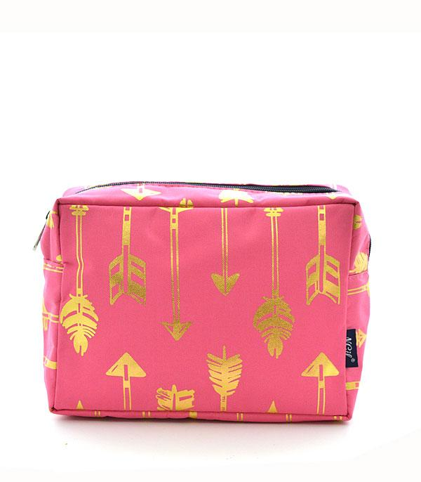 TRAVEL :: DIAPER | TOILETRY | COSMETIC BAGS :: Wholesale NGIL Gold Foil Arrow Cosmetic Bag