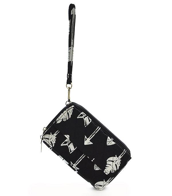 HANDBAGS :: WALLETS | SMALL ACCESSORIES :: Wholesale NGIL Arrow Print Wallet Crossbody Bag