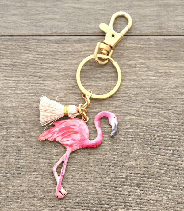New Arrival :: Wholesale Flamingo Keychain Charm