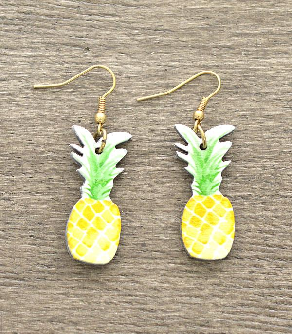 New Arrival :: Wholesale Pineapple Wooden Earrings