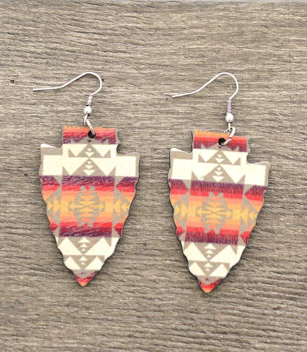 New Arrival :: Wholesale Western Aztec Arrowhead Earrings