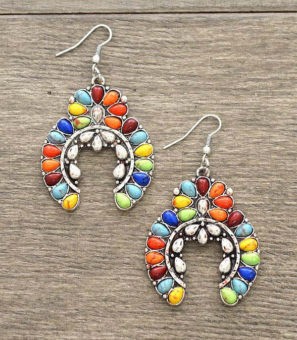 New Arrival :: Wholesale Turquoise Squash Blossom Earrings