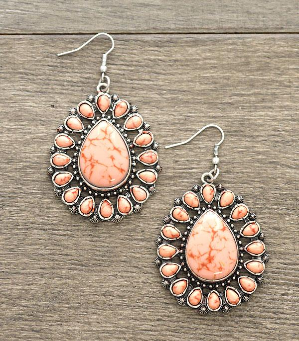 New Arrival :: Wholesale Turquoise Stone Earrings