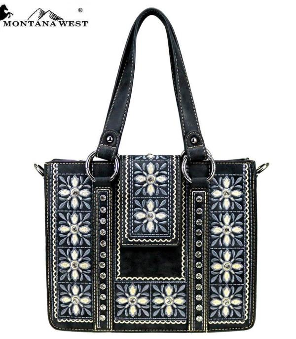 New Arrival :: Wholesale Montana West Embroidered Tote Crossbody