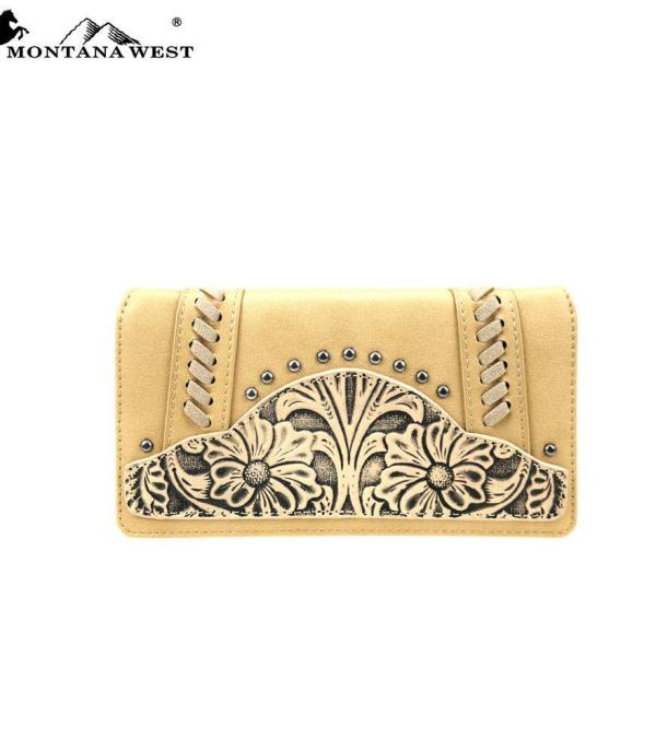 HANDBAGS :: WALLETS | SMALL ACCESSORIES :: Wholesale Trinity Ranch Leather Wallet