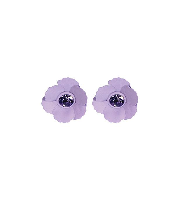 New Arrival :: Wholesale Pansy Flower Stud Earrings