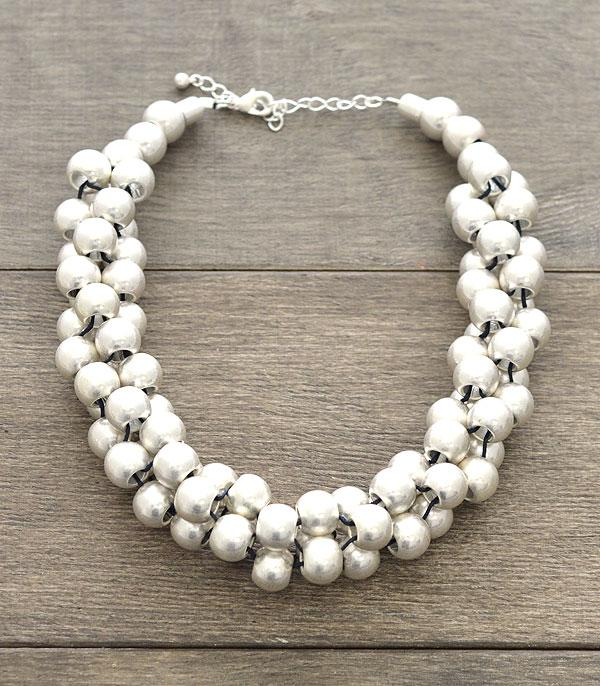 New Arrival :: Wholesale Silver Ball Choker Necklace
