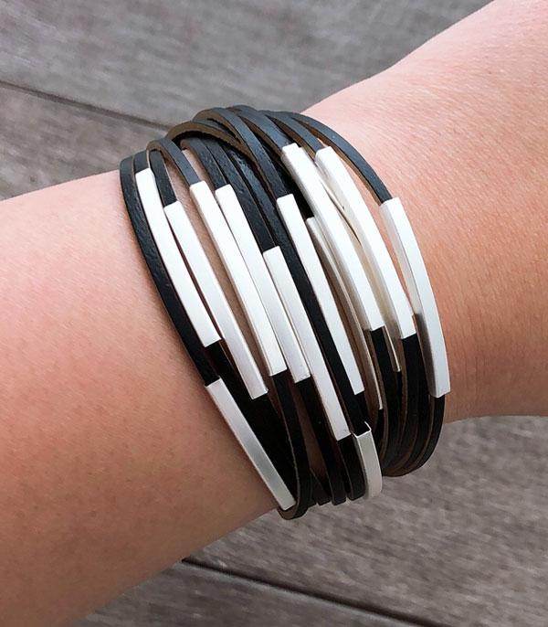 New Arrival :: Wholesale Multi Layered Leather Bracelet